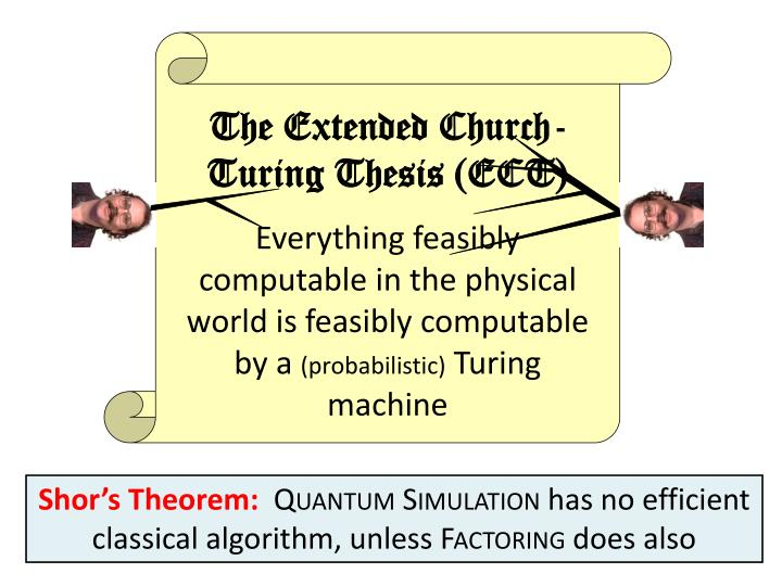 The Extended Church-Turing Thesis (ECT)