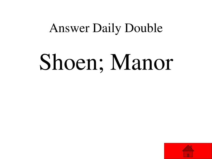 Answer Daily Double