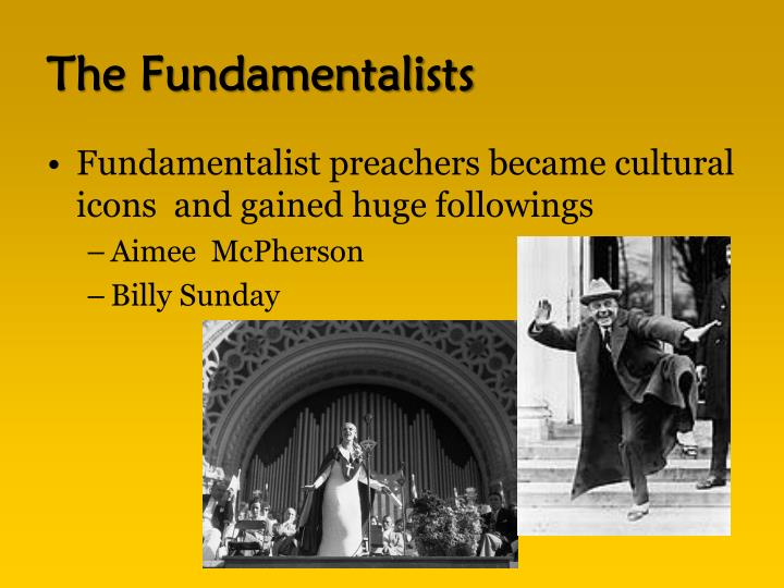The Fundamentalists