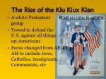 the rise of the klu klux klan