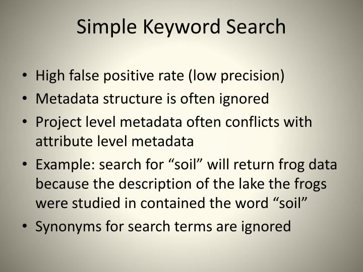 Simple Keyword Search