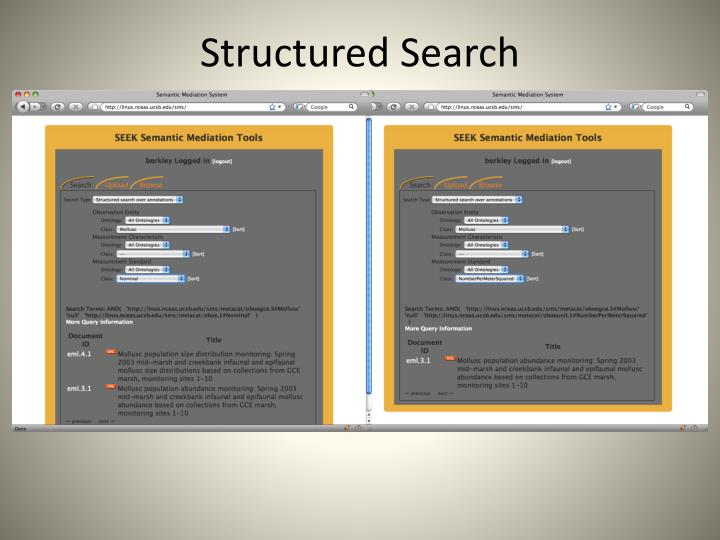 Structured Search