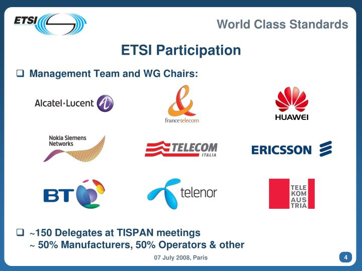 ETSI Participation