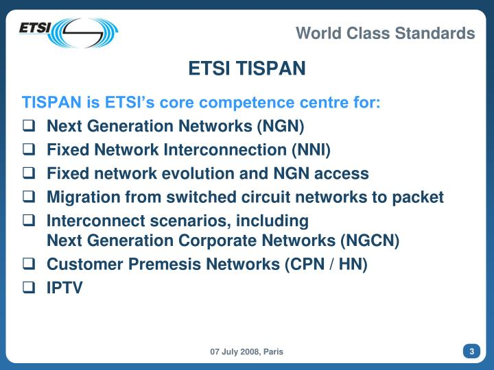 ETSI TISPAN