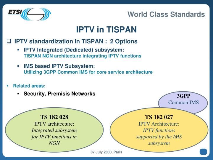 IPTV in TISPAN