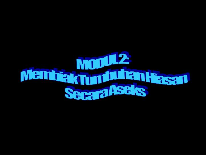 MODUL 2: