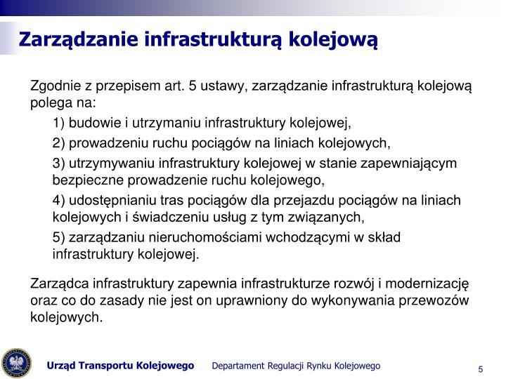 Zarządzanie infrastrukturą kolejową