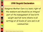 1998 bogot declaration