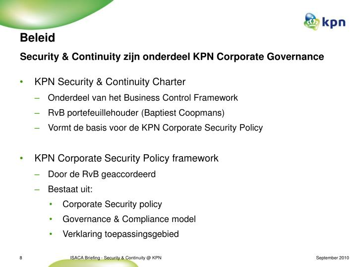 Security & Continuity