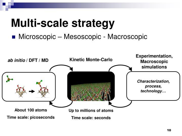 Experimentation, Macroscopic simulations