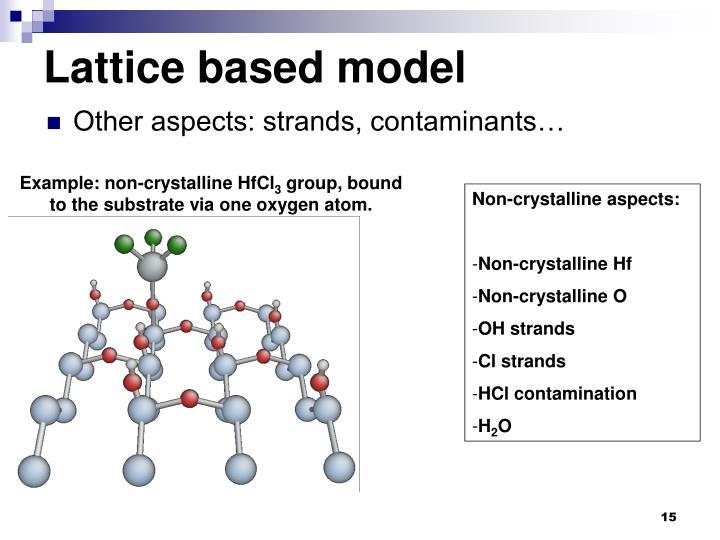 Lattice based model