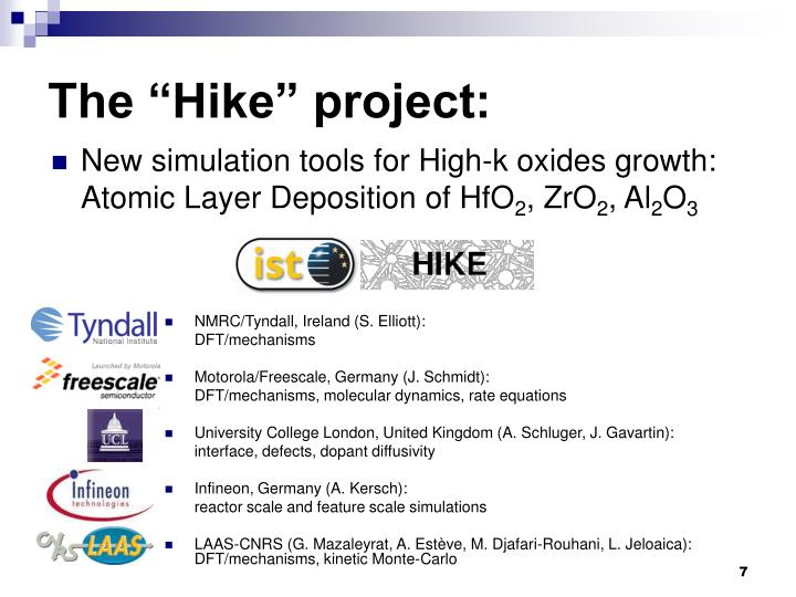 "The ""Hike"" project:"