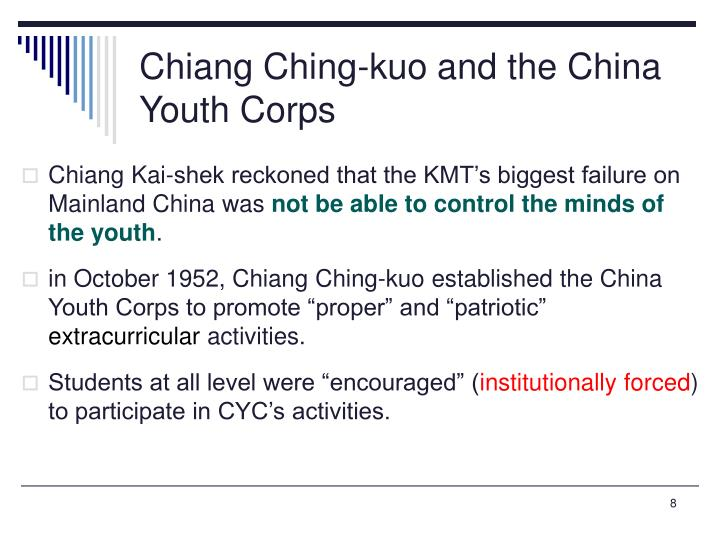 Chiang Ching-kuo and the