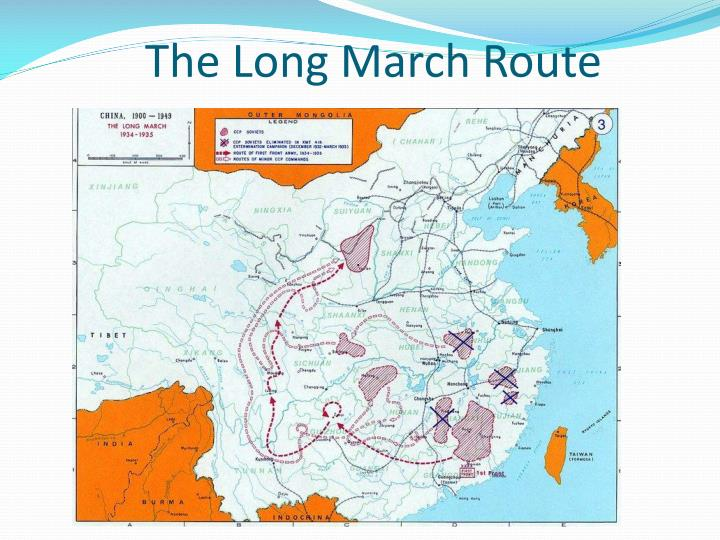 The Long March Route