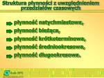 struktura p ynno ci z uwzgl dnieniem przedzia w czasowych
