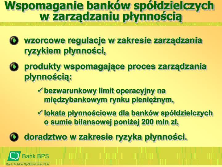 Wspomaganie banków spółdzielczych