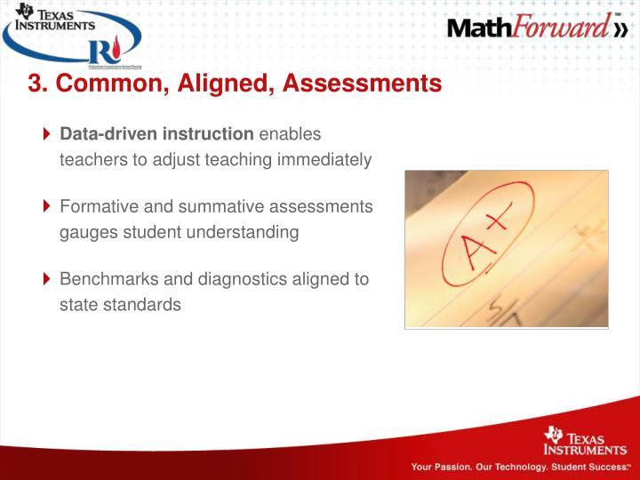 3. Common, Aligned, Assessments