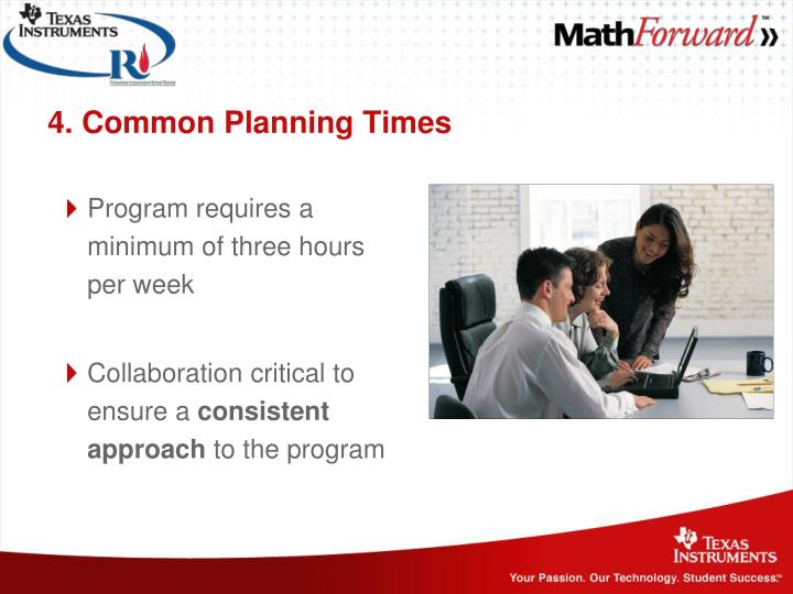 4. Common Planning Times