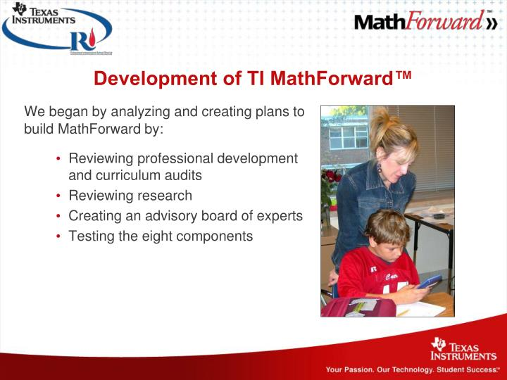 Development of TI MathForward™