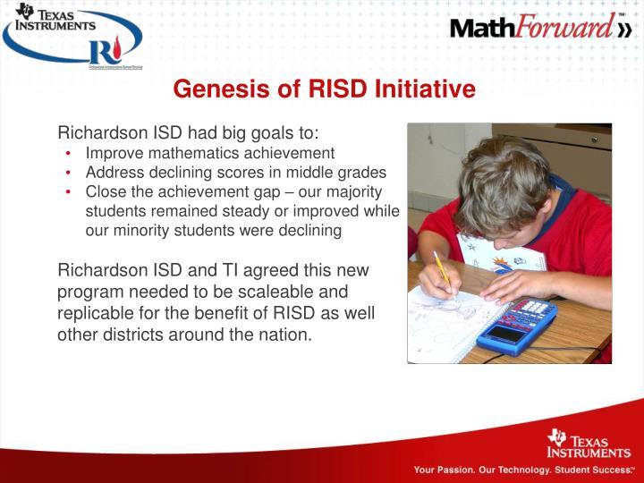 Genesis of RISD Initiative
