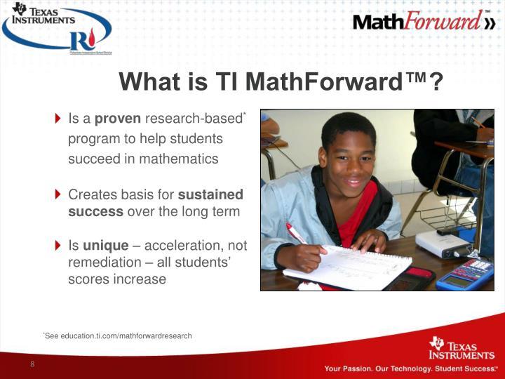 What is TI MathForward™?