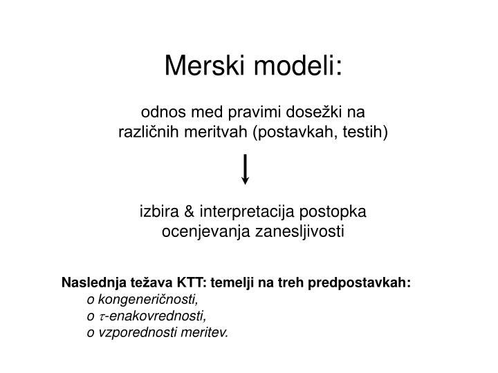 Merski modeli: