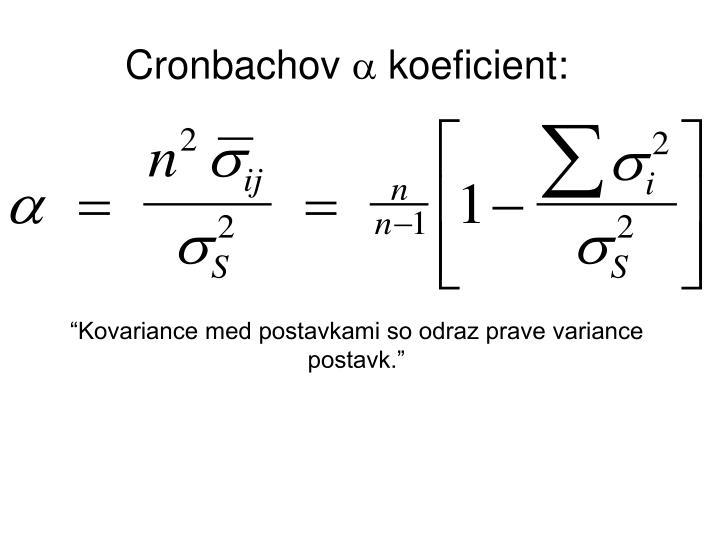 Cronbachov