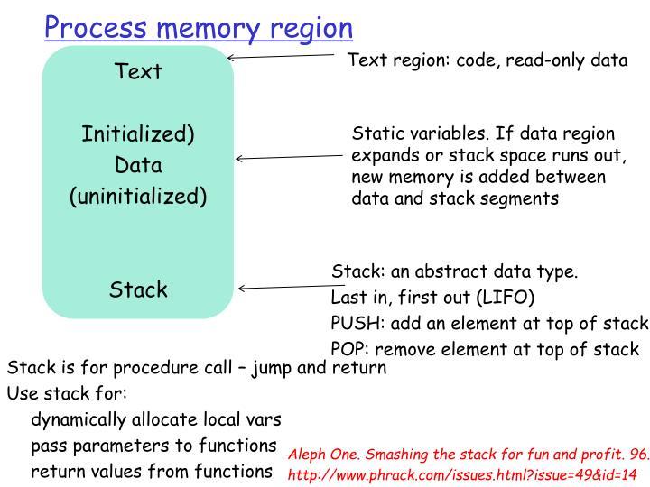Process memory region