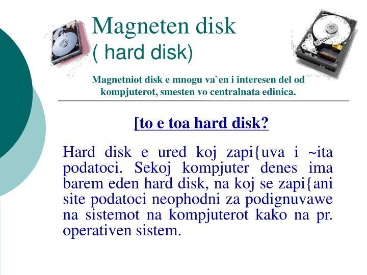 Magneten disk