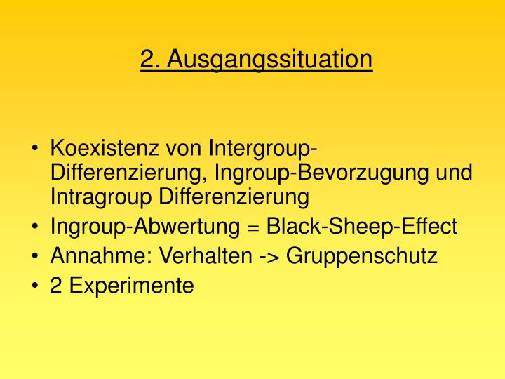 2. Ausgangssituation