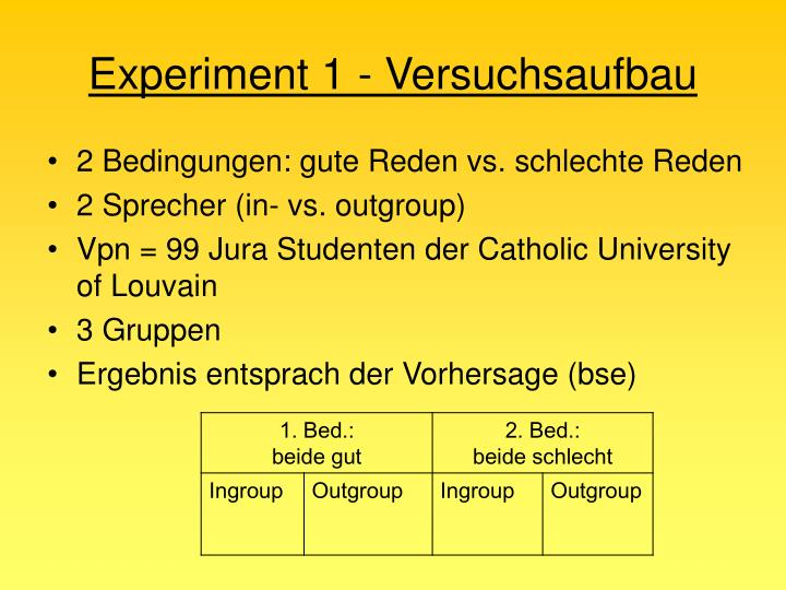 Experiment 1 - Versuchsaufbau