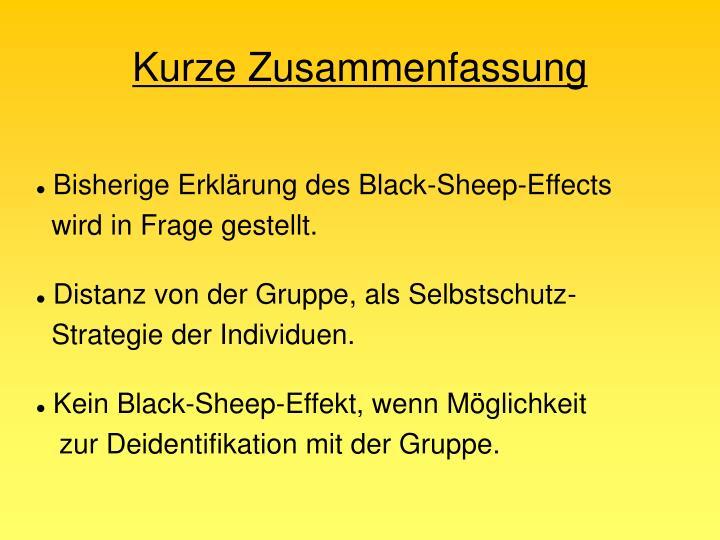 Bisherige Erklärung des Black-Sheep-Effects