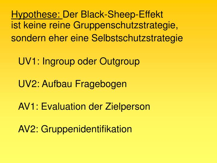 UV1: Ingroup oder Outgroup