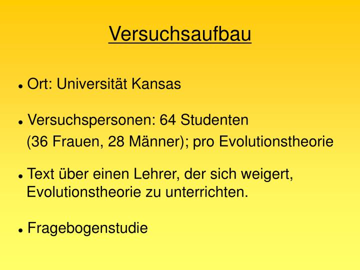 Ort: Universität Kansas