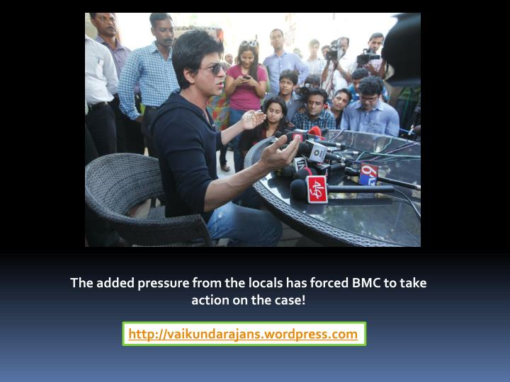 The added pressure from the locals has forced BMC to take action on the case!