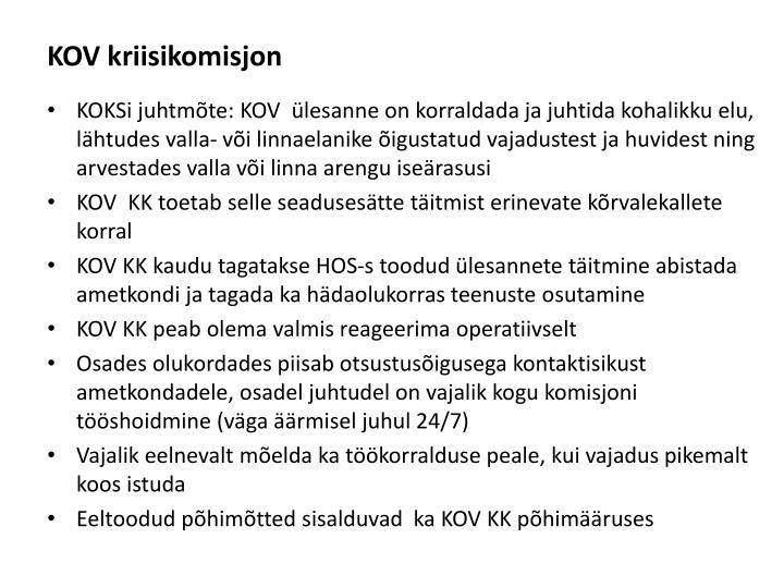 KOV kriisikomisjon