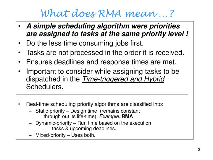 A simple scheduling algorithm were priorities are assigned to tasks at the same priority level !