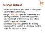 m range address
