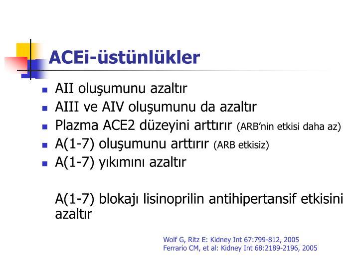 ACEi-üstünlükler