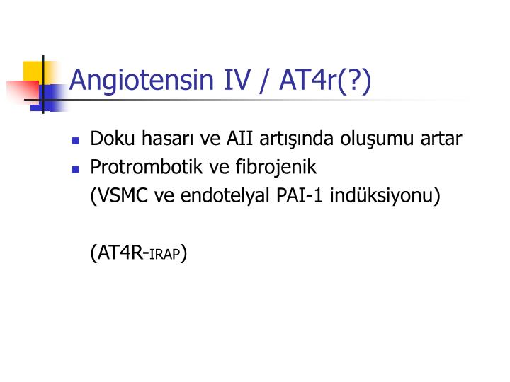 Angiotensin IV / AT4r(?)