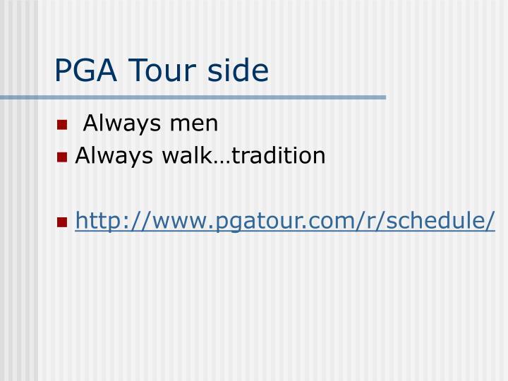 PGA Tour side