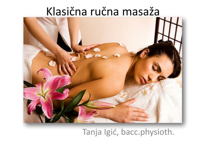 Klasična ručna masaža