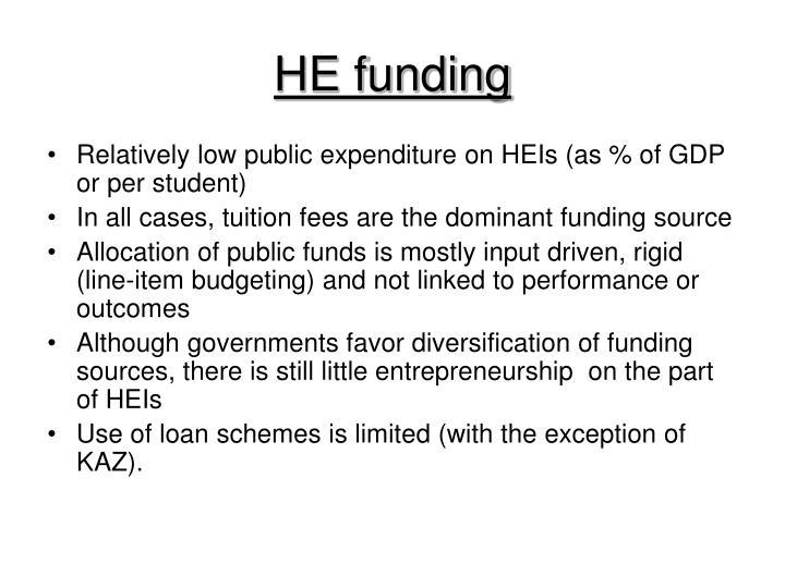 HE funding