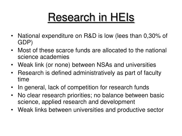 Research in HEIs