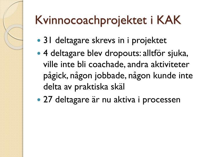 Kvinnocoachprojektet i KAK