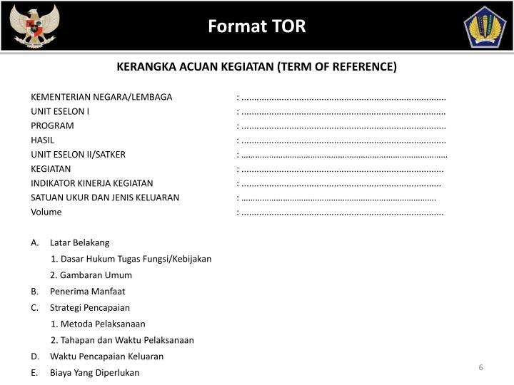 Format TOR