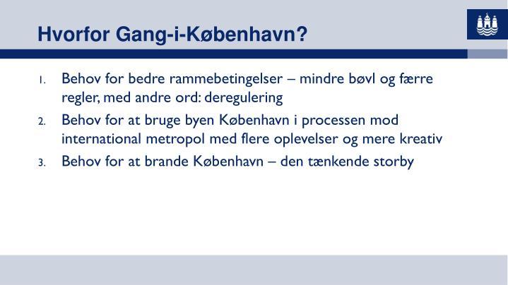 Hvorfor Gang-i-København?