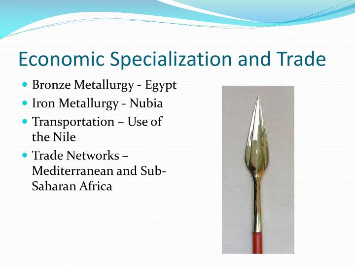 Economic Specialization and Trade