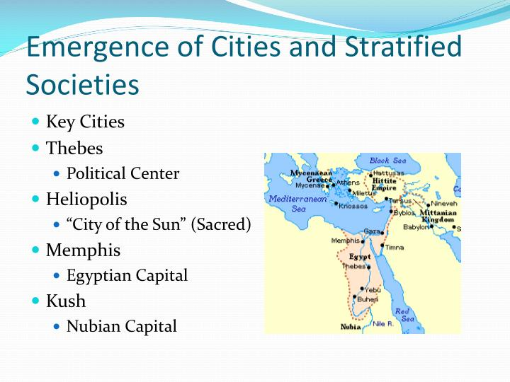 Emergence of Cities and Stratified Societies