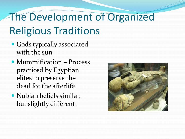 The Development of Organized Religious Traditions